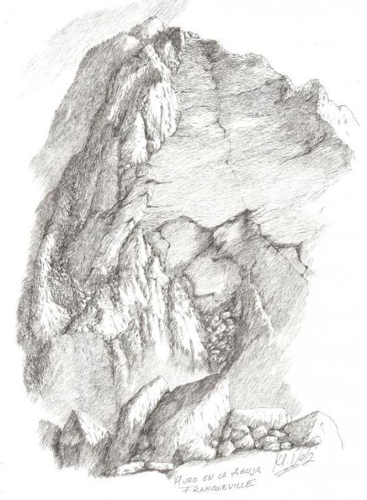 Muro Rapel en la aguja Franqueville
