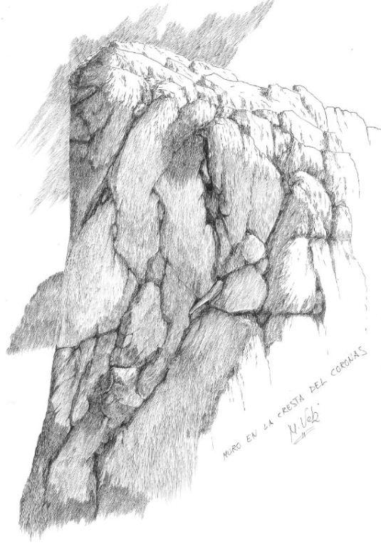 Muro en la Cresta del Coronas