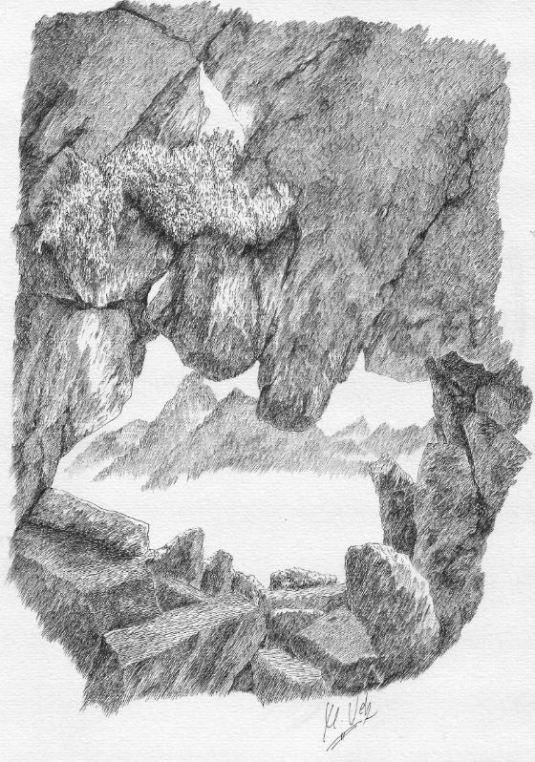 Ojo de Buey cerca de la cima