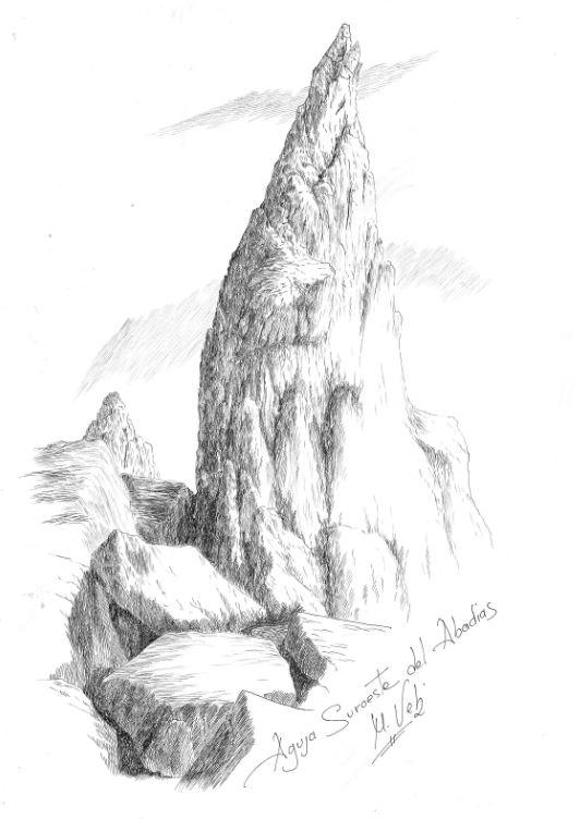Aguja suroeste del pico Abadias