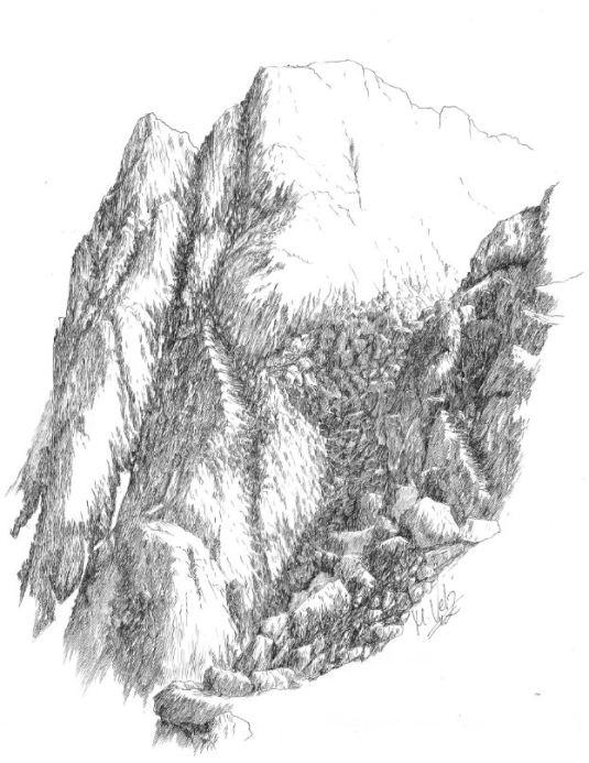 Morrena Glaciar en Picos